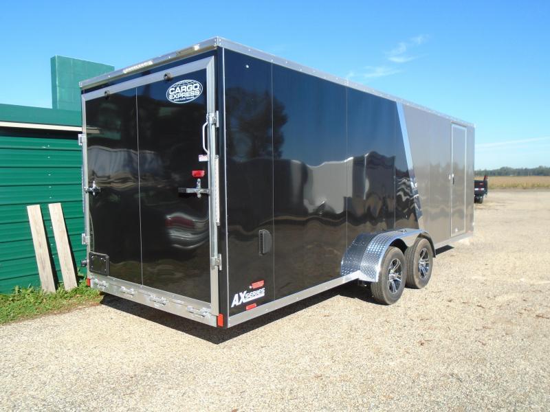 2020 Cargo Express 7x27 AX Series 7k Snowmobile Trailer