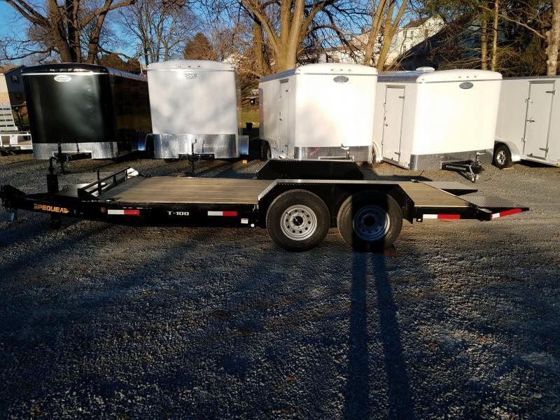 2019 Pequea T100 18 TILT DECK Equipment Trailer