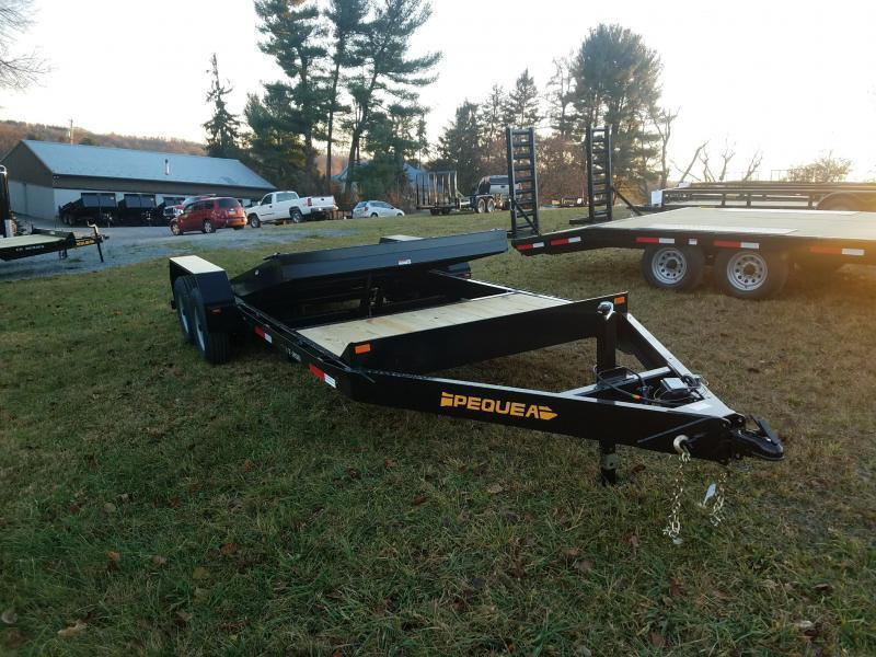 2019 Pequea T200 20 TILT DECK Equipment Trailer