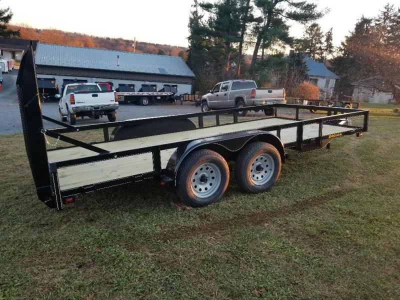 2019 Pequea 80x16 Utility Trailer with ramps