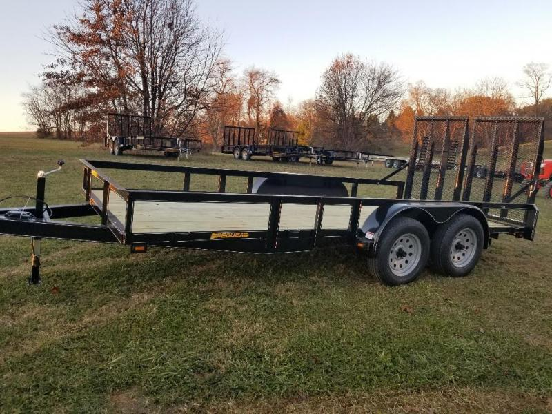2020 Pequea 80x16 Utility Trailer with ramps