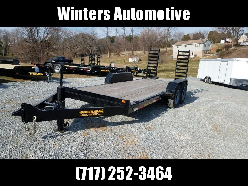 2018 Pequea SKIDSTEER 18 Equipment Trailer