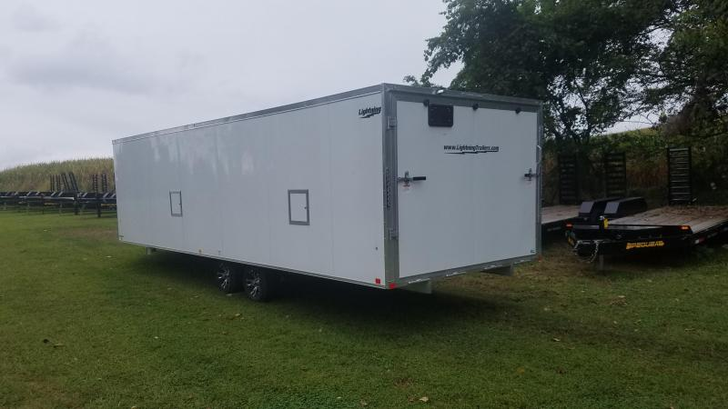 2020 Lightning Trailers LTFES824TA Snowmobile Trailer