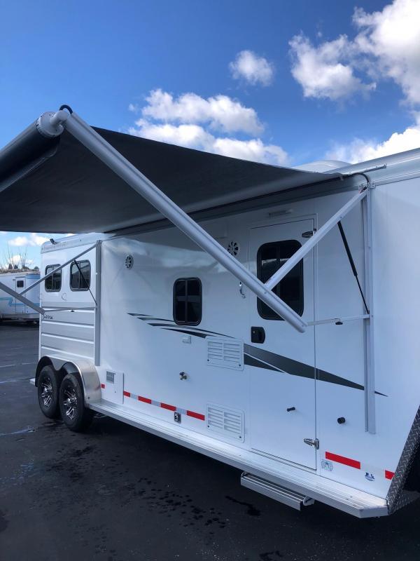 2020 Trails West 2-Horse Living Quarters Sierra 8x13 Model w/ Slide Out