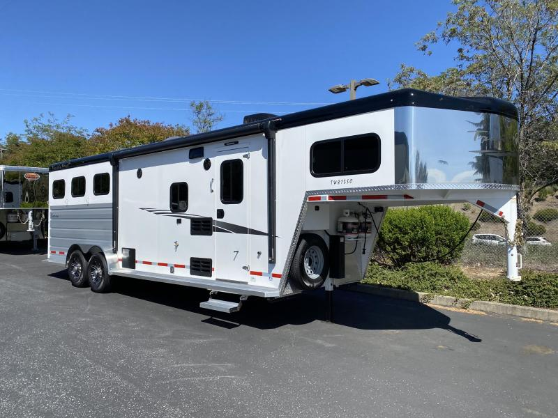2020 Trails West 3-Horse Living Quarters Sierra 8x13 Model w/ Slide Out