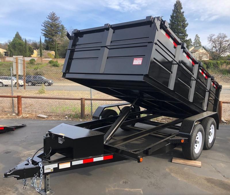 2020 R&J 6 x 12 Dump 10K with 3' Sides Dump Trailer