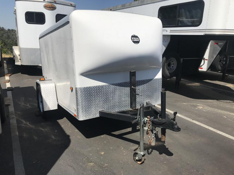 1999 Wells Cargo 5 x 8 Motorcycle Enclosed Cargo Trailer