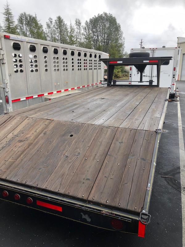 2017 14' Deck Over with 3' Dove Tail Gooseneck Trailer