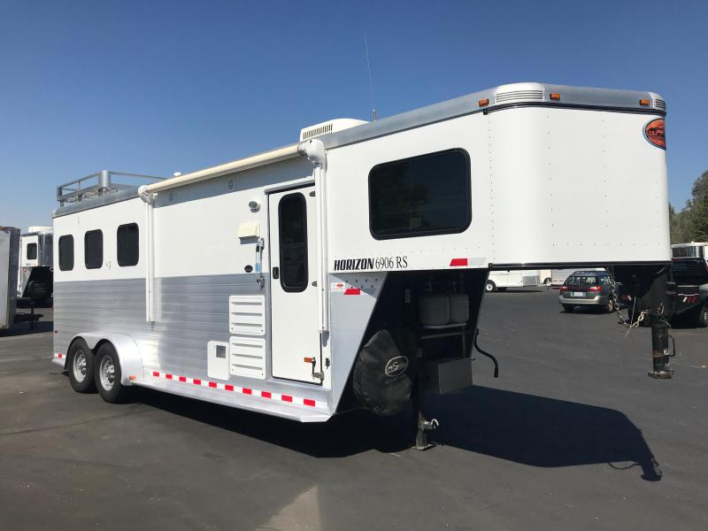2013 Sundowner Trailers Horizon 6906 3H LQ Horse Trailer