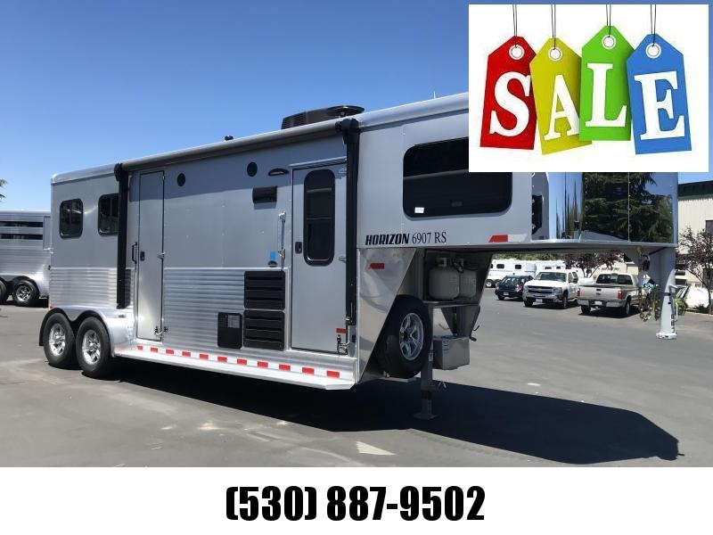 2019 Sundowner Trailers Horizon 6907 2H LQ Horse Trailer