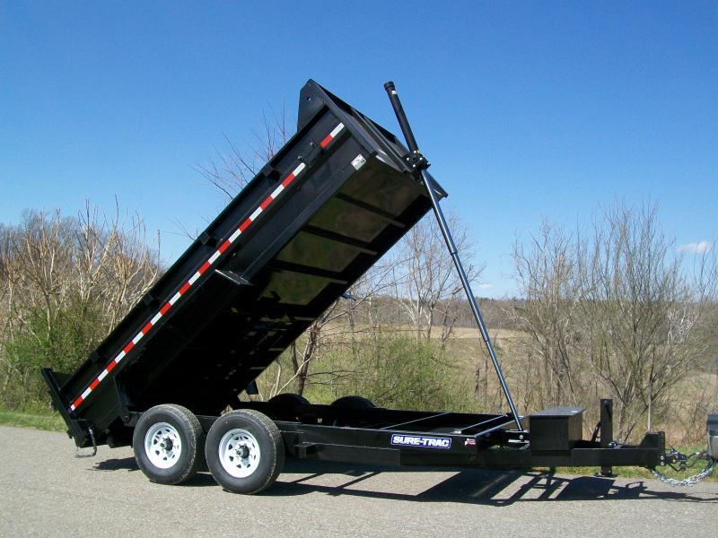 Sure-Trac 82 x 14 14K HD Telescopic Lift Dump Trailer