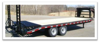 24' 14K Gooseneck Equip. Trailer w/Pop-Up Traction Cleat Dovetail