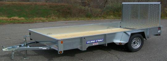 "Sure-Trac 6'9"" x 12 Galvanized Utility Trailer"