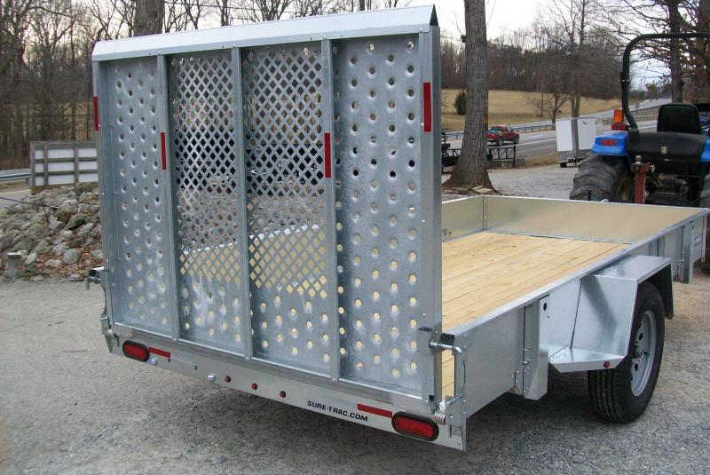 """Sure-Trac 6'9"""" x 12 Galvanized Utility Trailer"""