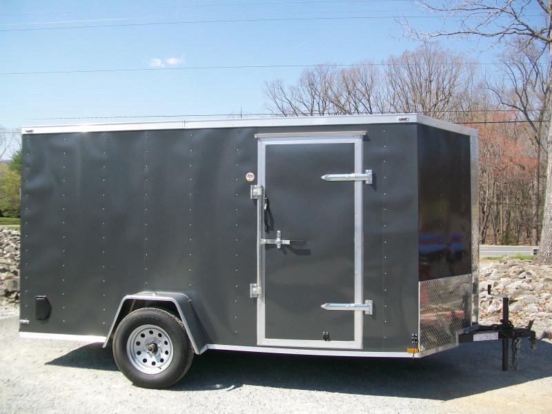 "Lark 6 x 12 Ramp Door Enclosed Cargo Trailer 6'6"" Interior"