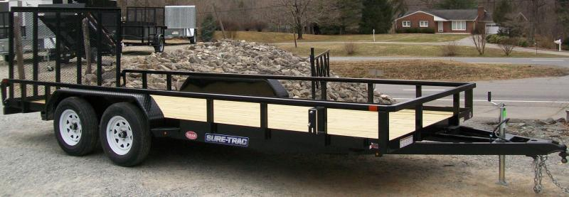 "Sure-Trac 6'9"" x 18 Tube Top Utility Trailer"