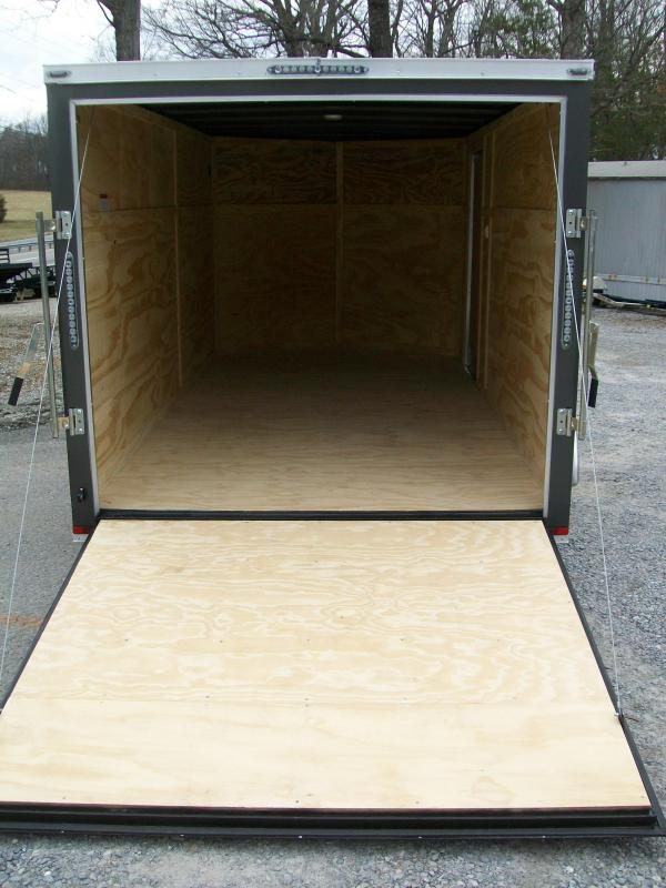 """Lark 7 x 16 Enclosed Cargo Trailer 6'6"""" Interior"""