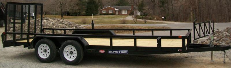 "Sure-Trac 6'9"" x 16 Tube Top Utility Trailer"