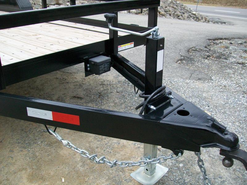 "Sure-Trac 6'9"" x 20 Tube Top Tandem Gate Utility Trailer"