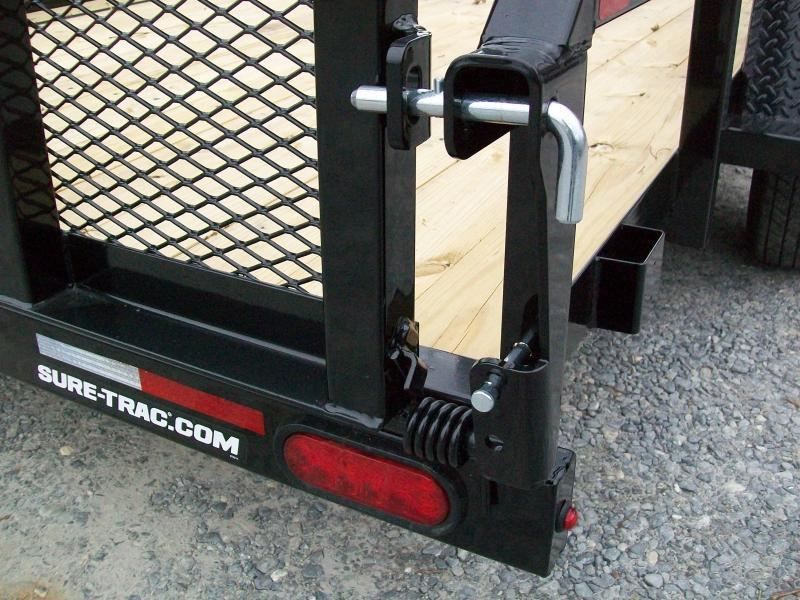 """Sure-Trac 6'9"""" x 14 Tube Top Utility Trailer With Brakes"""