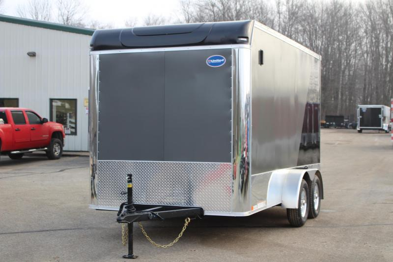 2019 United Trailers XLMT 7x14 Motorcycle Trailer