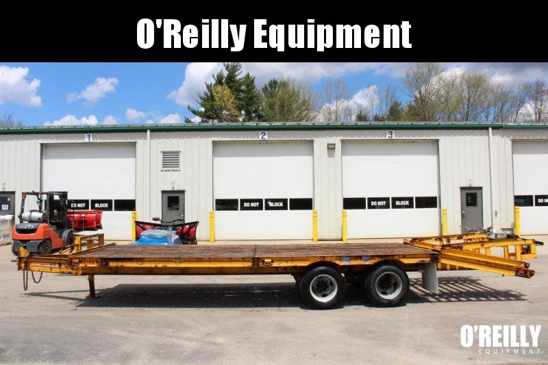 1991 25' CZ Engineering Deck Over Equipment Trailer Used