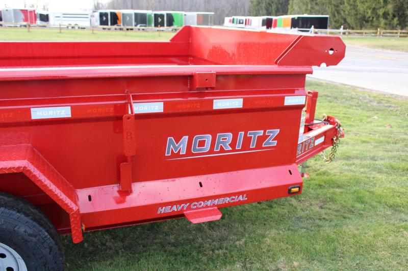 "2020 Moritz International 6'10""x12 HD Dump Trailer"