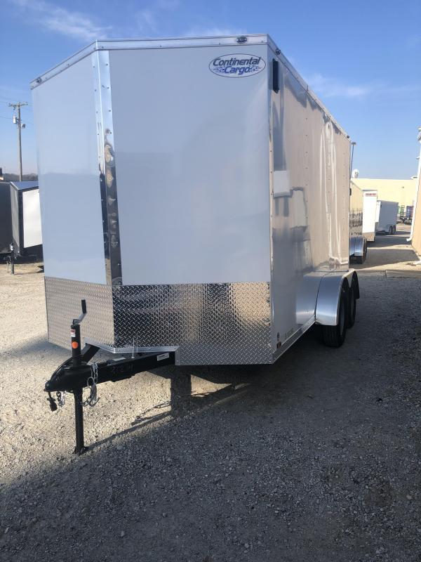 2020 Continental V-Series 7X14 7K GVWR Enclosed Cargo Trailer $4490