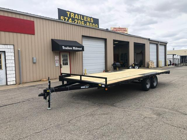 "2020 Quality Steel 101"" x 20' 10K Flatbed Deckover Trailer $4050"