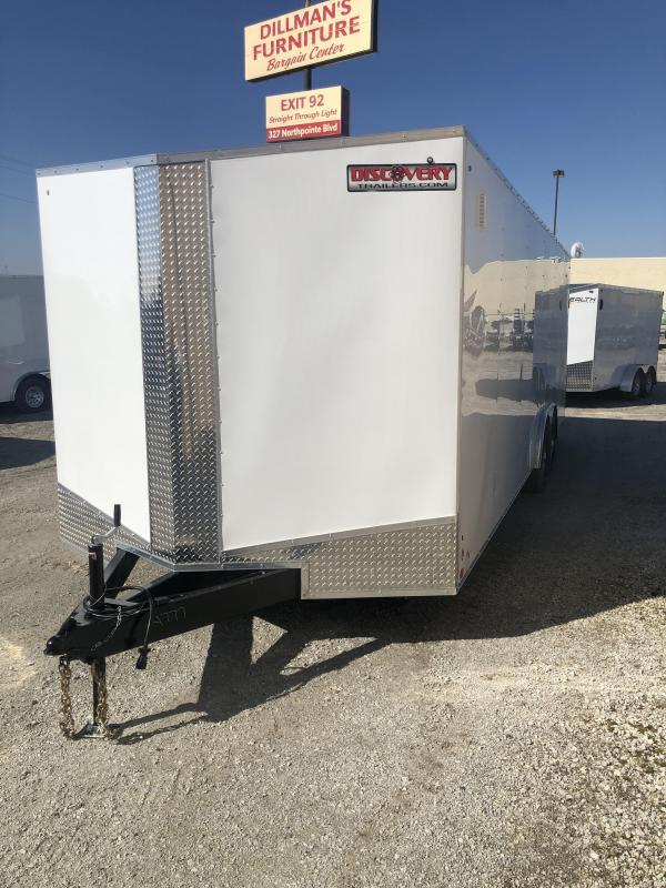 2020 Discovery Challenger ET 8.5X24 7K GVWR Enclosed Car Trailer $5875