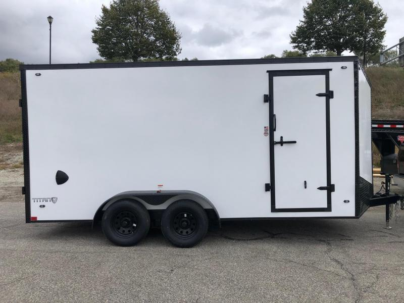 2020 Stealth Infinity 7 x 16 7K GVWR Blackout Cargo Trailer on Sale $6050