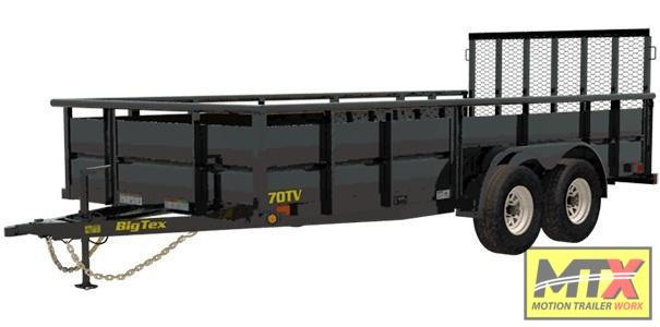 2020 Big Tex 20' 10TV 10K Trailer w/ Solid Sides 2x2 Box & Gate