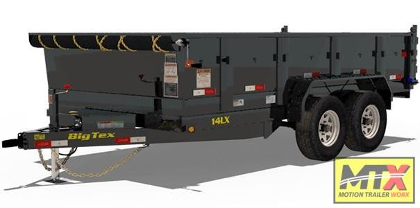 2020 Big Tex 14LX-14-P4' SOLID SIDES Dump Trailer