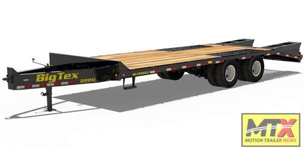 2020 Big Tex 22PH-25+5 Flat Deck Pintle w/ Mega Ramps Equipment Trailer