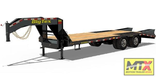 2020 Big Tex 22GN-20+5' Mega Ramps Gooseneck Equipment Trailer
