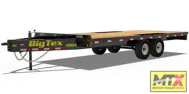 2020 Big Tex Trailers 20' 10OA 10K Flat Bed Trailer w/ Slide out Ramps