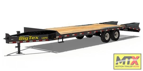 2020 Big Tex 14PH-20+5'Mega Ramps Pintle Hitch Equipment Trailer