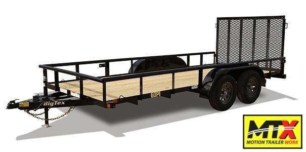 2020 Big Tex  14' 60PI w/ 4' Spring Assist Tailgate