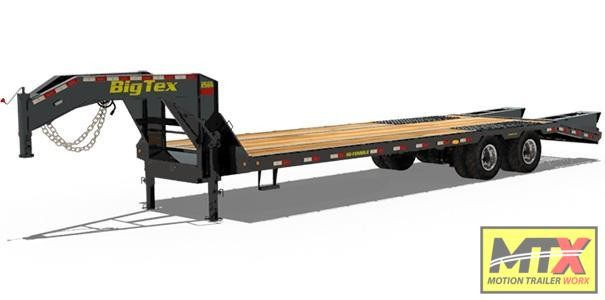 2020 Big Tex 25GN-25+5' Mega Ramps Gooseneck Flatbed Trailer