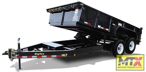 2020 Big Tex 7x14 Low Pro 14K Dump w/ Slide-In Ramps