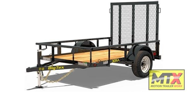 2020 Big Tex 5x8 30SA w/ 4' Spring Assist Tailgate