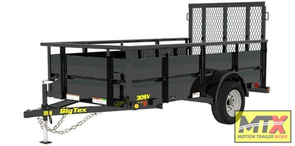 """2020 Big Tex Trailers 30SV-10 w/ 24"""" Solid Sides and Ramp Gate"""