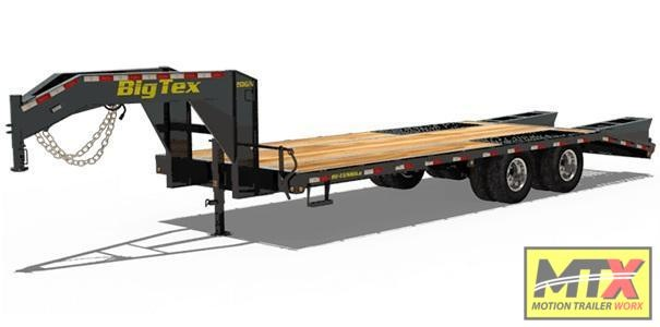 2020 Big Tex 20+5 20GN 20K Economy Gooseneck w/ Flip Over Ramp