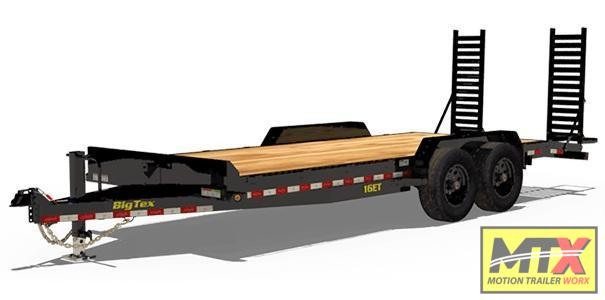 2020 Big Tex Trailers 20' 16ET 17.5K Equipment Trailer w/ Fold Up Ramps