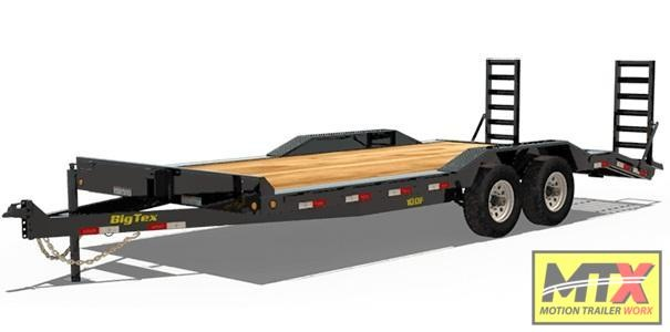 2020 Big Tex 18' 10DF 10K Equipment Trailer w/ Fold Up Ramps