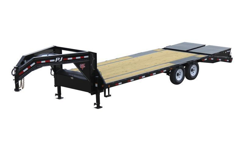 2020 PJ Trailers 25' Low-Pro Flatdeck with Singles Trailer