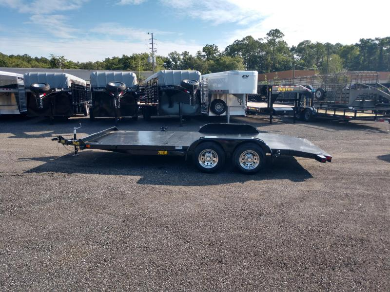 70DM-18BK BIG TEX 18' STEEL DECK CAR HAULER WITH SPARE
