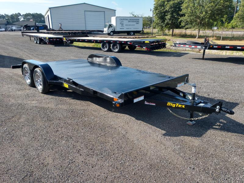 70DM-18BK BIG TEX 18' STEEL DECK CAR HAULER