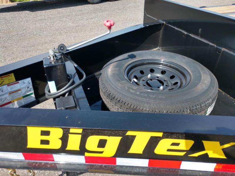 14PH-20BK+5MR BIG TEX 25' FLATBED TRAILER W/ MEGA RAMPS