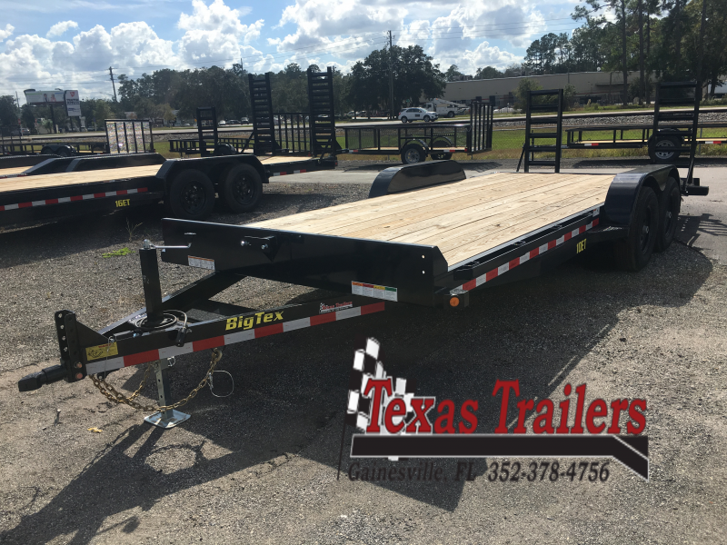 10ET-20BK BIG TEX 20' TANDEM AXLE EQUIPMENT TRAILER W/ KNEE RAMPS